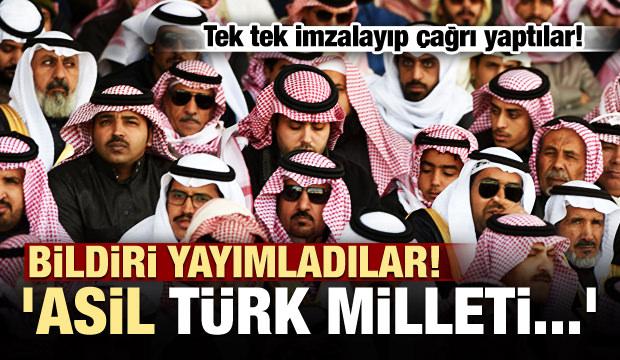 Bildiri yayımladılar: Asil Türk milleti...