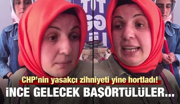 CHP'lilerden başörtülü kadına sözlü taciz!
