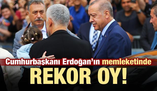 Erdoğan'ın memleketinde rekor oy!