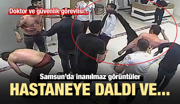 Hastanede doktor ve güvenlik görevlisine saldırı