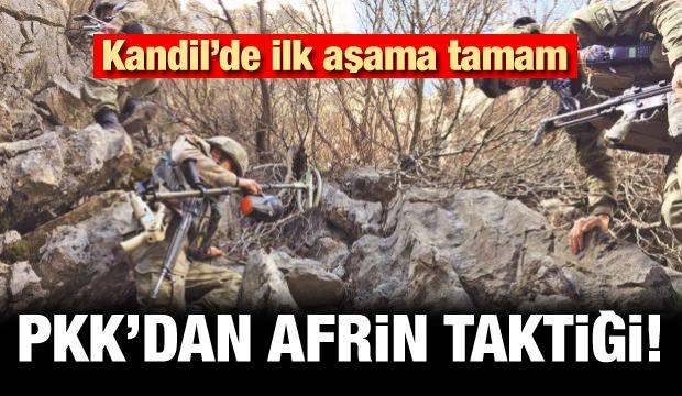 Kandil'de ilk aşama tamam! PKK'lılardan Afrin tatkiği