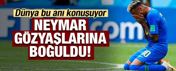 Neymar hüngür hüngür ağladı!
