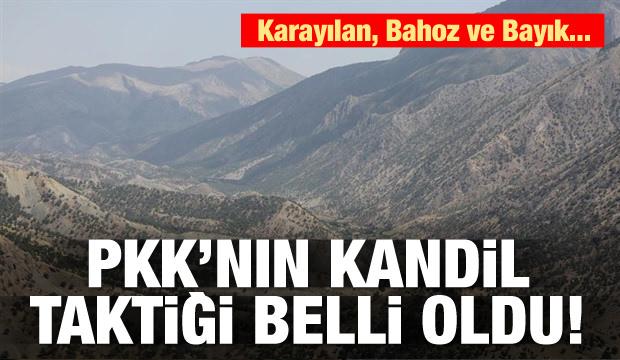 PKK'nın Kandil taktiği belli oldu!