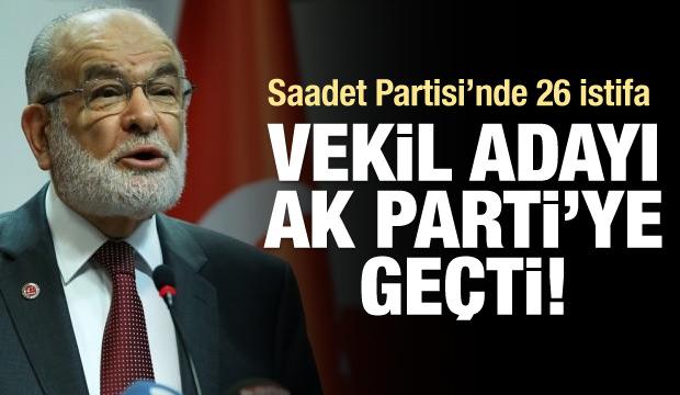 Saadet adayı istifa edip AK Parti'ye katıldı!