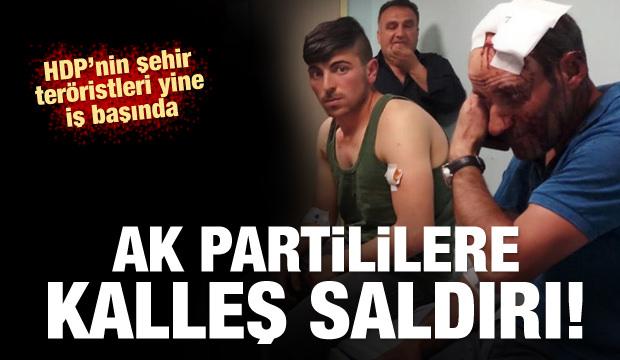 Seçim çalışması yürüten AK Partililere saldırı!