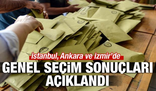 Üç büyükşehirde genel seçim sonuçları açıklandı