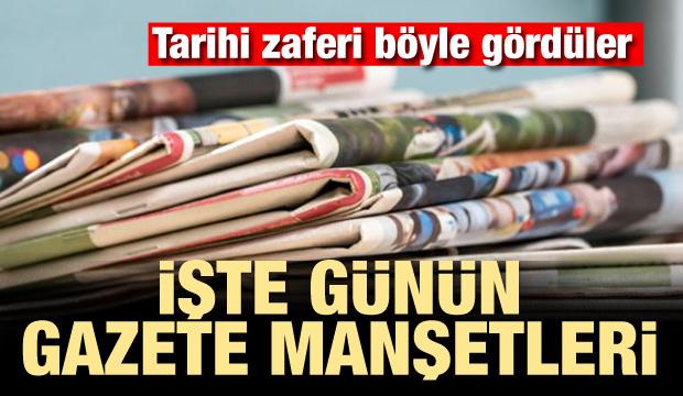 25 Haziran 2018 gazete manşetleri