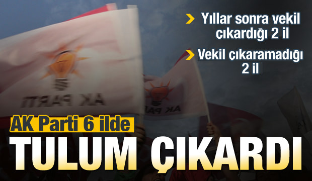 AK Parti 6 ilden tulum çıkardı