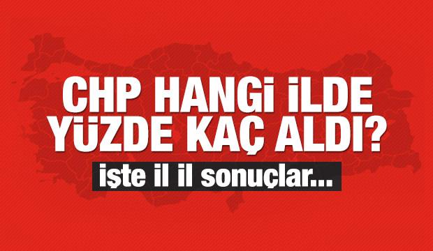 CHP hangi ilde yüzde kaç oy aldı?