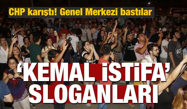 CHP karıştı! 'Kemal istifa' sloganları