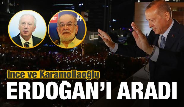 İnce'den Erdoğan'a tebrik telefonu