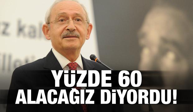 Kılıçdaroğlu yüzde 60 alacağız diyordu