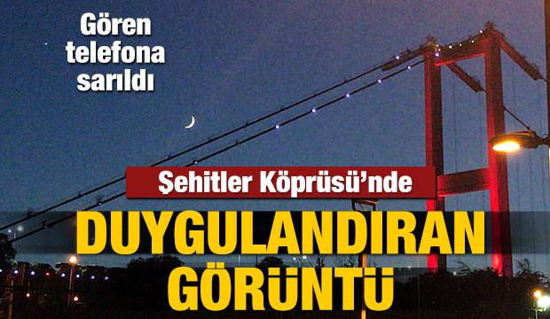 İstanbul semalarında duygulandıran görüntü