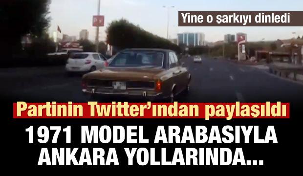 1971 model arabasıyla Ankara yollarında...