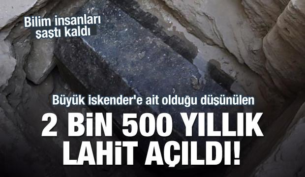 2500 yıllık lahit açıldı