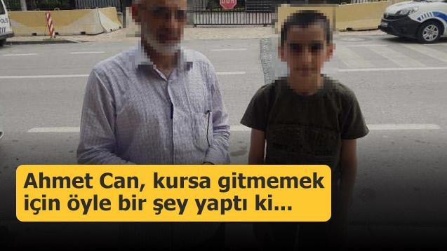 Ahmet Can, kursa gitmemek için bakın ne yapmış