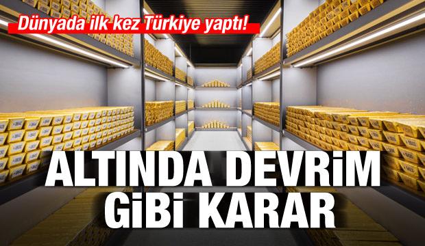 Altında devrim! Dünyada ilk kez Türkiye yaptı...