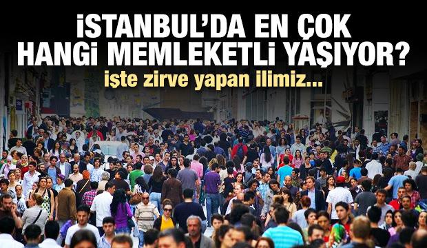 Hangi memleketten İstanbul'da kaç kişi var?