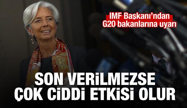 IMF Başkanı Lagarde'dan G20 bakanlarına uyarı
