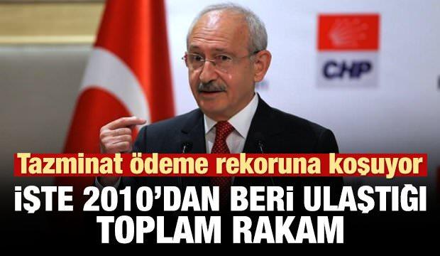 Kılıçdaroğlu tazminatta rekora koşuyor