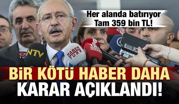 Kılıçdaroğlu'na bir kötü haber daha!