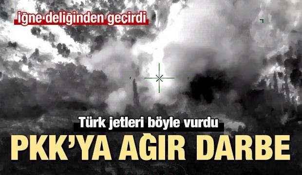 PKK'nın mühimmat deposunun yerle bir edilme anı