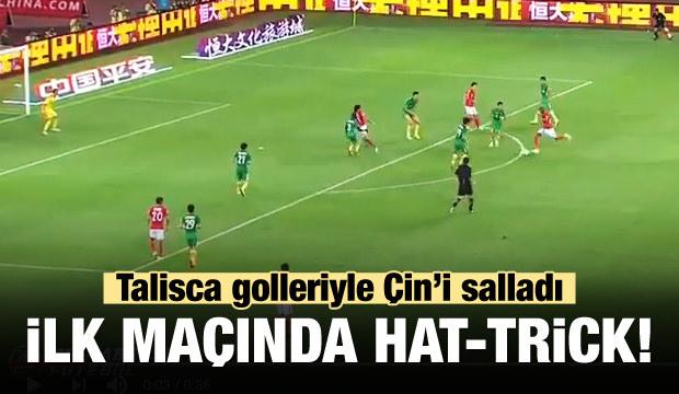 Talisca ilk maçında coştu! Hat-trick şov