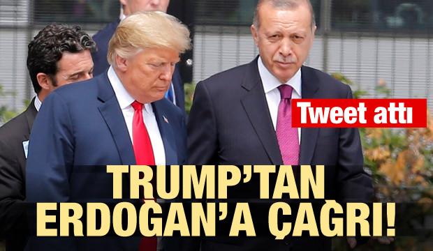 Trump'tan Erdoğan'a çağrı! Tweet attı