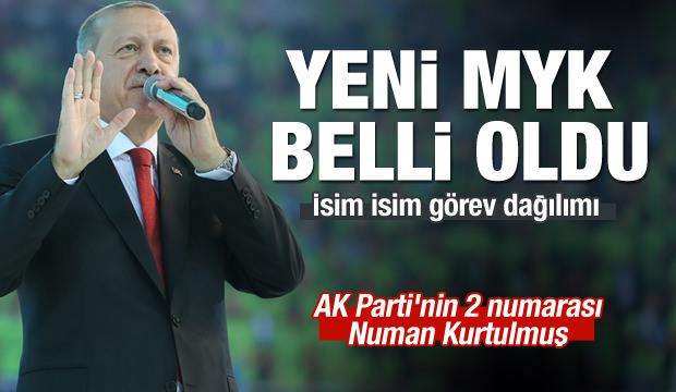 AK Parti'de yeni MYK belli oldu!