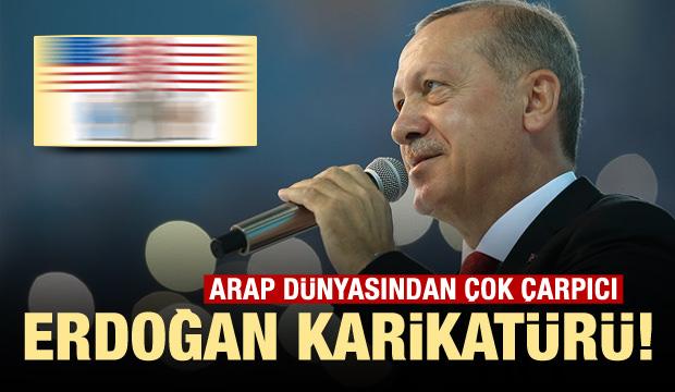Arap dünyasından çok çarpıcı Erdoğan karikatürü!