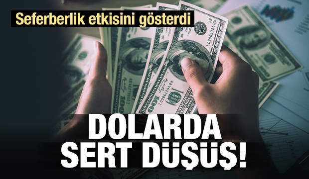 Dolarda düşüş hızlandı!