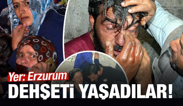 Erzurum'da dehşeti yaşıdılar!