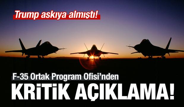 F-35 Program Ofisi'nden önemli açıklama!