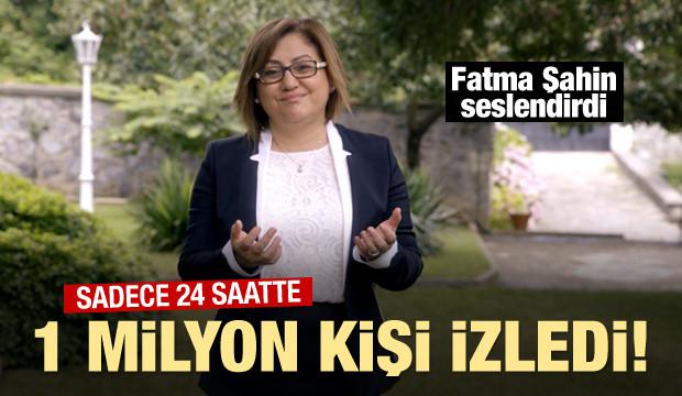 Fatma Şahin seslendirdi...24 saatte 1 milyon kişi izledi