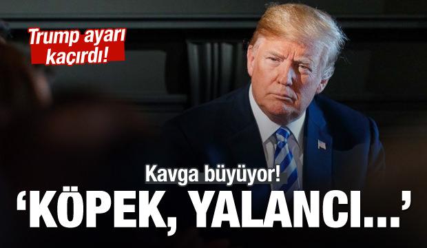 Trump iyice çıldırdı! Köpek, yalancı...