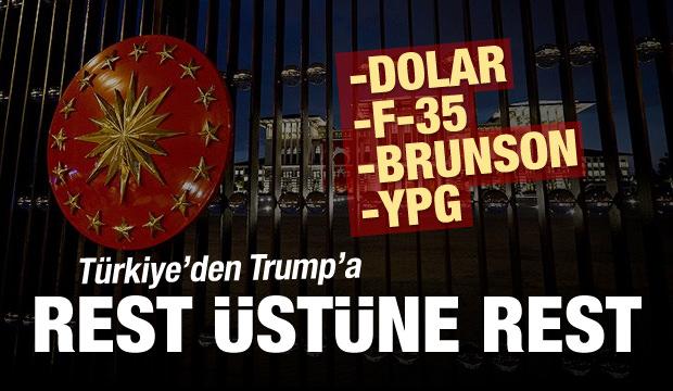 Türkiye'den ABD'ye rest üstüne rest
