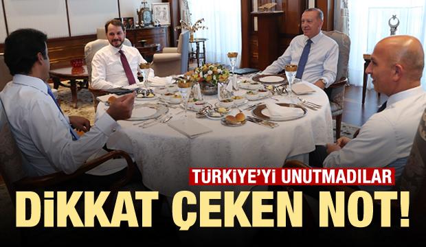 Türkiye'yi unutmadılar! Dikkat çeken not
