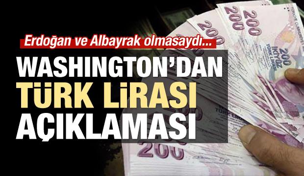 Washington'dan Türk Lirası açıklaması