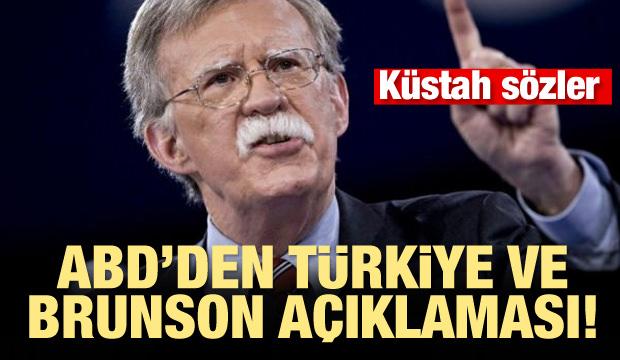 ABD'den Türkiye ve Brunson açıklaması