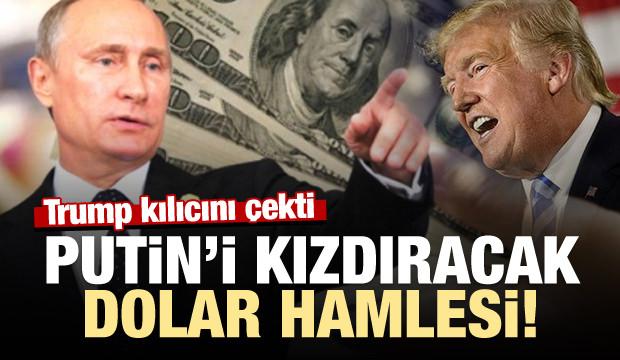Trump kılıcı çekti!Putin'i kızdıracak dolar kararı