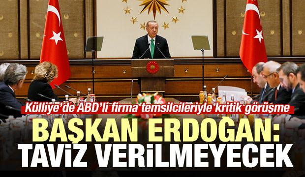 Başkan Erdoğan: Taviz verilmeyecek