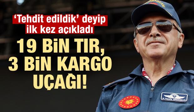 Erdoğan 'tehdit edildik' deyip ilk kez açıkladı!