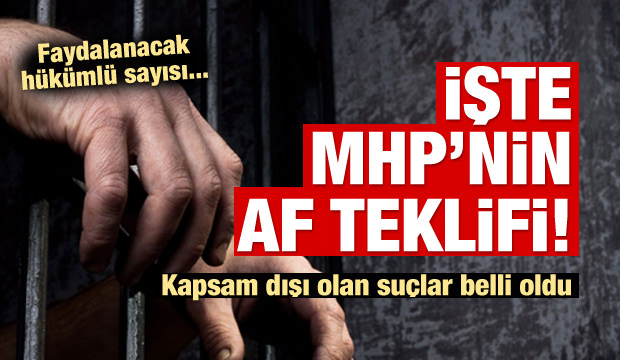 İşte MHP'nin af teklifi!
