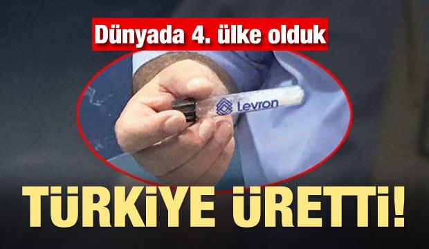 Türkiye üretti! Dünyada 4 ülkeden biri oldu