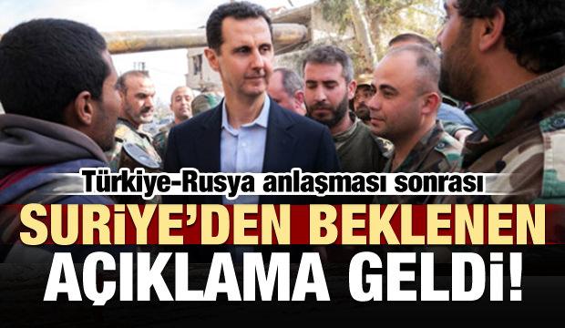 Ve Suriye'den anlaşma sorası ilk açıklama!
