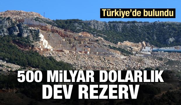 500 milyar dolar değerinde! Türkiye'de bulundu