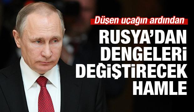 Düşen uçağın ardından Rusya'dan kritik hamle!