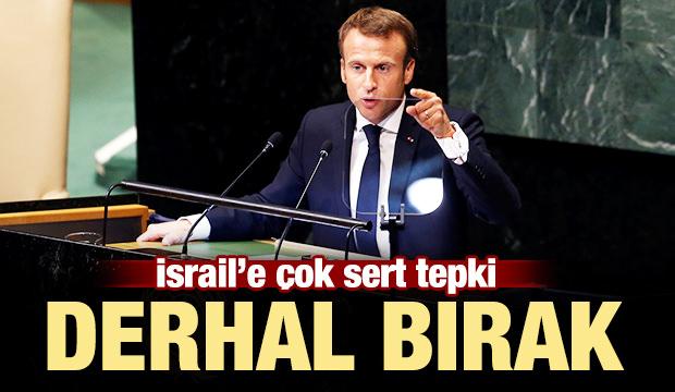 İsrail'e sert tepki: Derhal bırak