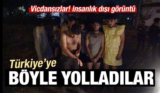 Vicdansızlar! Yarı çıplak Türkiye'ye gönderdiler