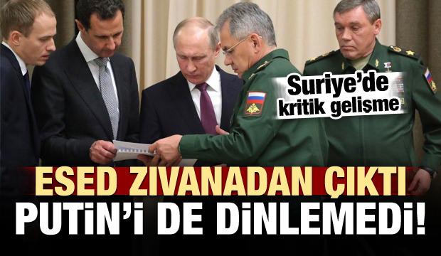 Zalim Esed zıvanadan çıktı! Rusya'yı dinlemedi